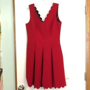 Red Banana Republic Scalloped Dress size 10
